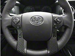 4-Button Steering Wheel Accent Trim; Raw Carbon Fiber (14-21 Tundra)