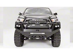 Fab Fours Vengeance Front Bumper with Pre-Runner Guard; Matte Black (16-21 Tacoma)