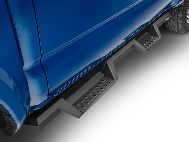 HDX Drop Nerf Side Step Bars; Textured Black (05-20 Tacoma Double Cab)