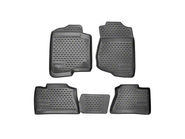 Profile Front and Second Row Floor Mats; Black (12-15 Tacoma Access Cab)