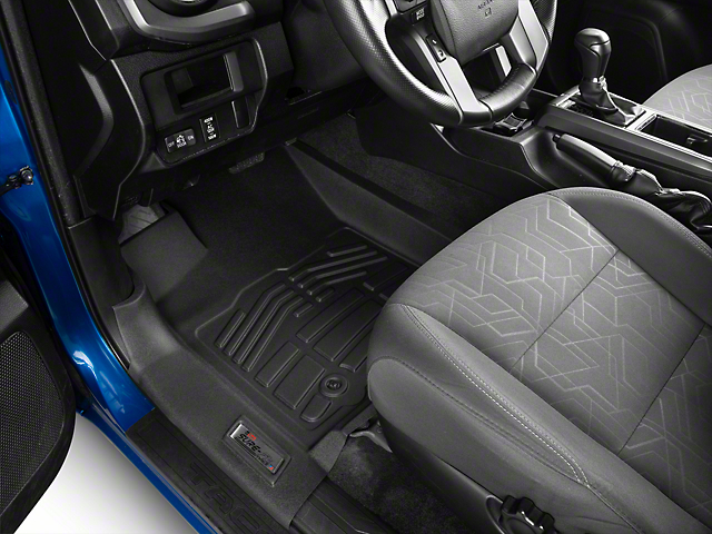 Wade Sure-Fit Front Floor Liners; Black (16-21 Tacoma)