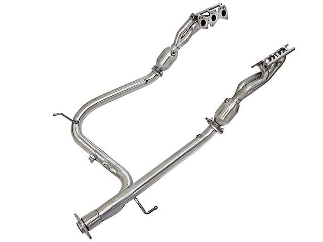 AFE 1-5/8-Inch Twisted Steel Headers with Y-Pipe; Street Series (12-15 4.0L Tacoma)