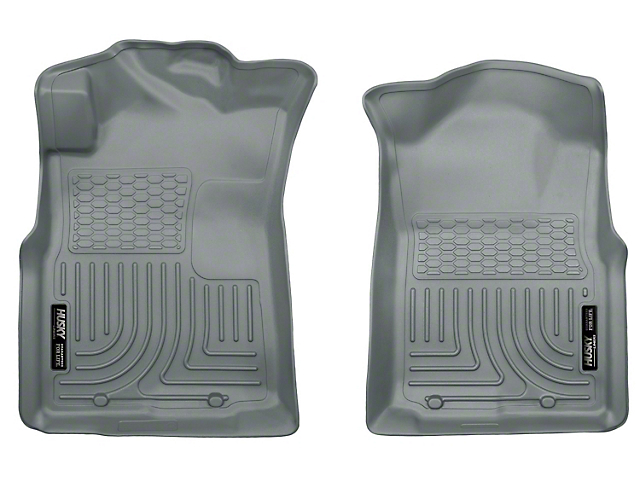 WeatherBeater Front Floor Liners; Gray (05-15 Tacoma)