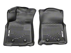 Husky WeatherBeater Front Floor Liners - Black (18-19 Tacoma w/ Automatic Transmission)