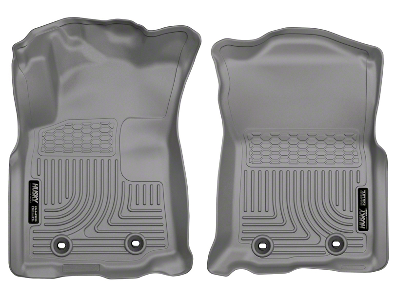 Husky WeatherBeater Front Floor Liners - Gray (18-19 Tacoma w/ Automatic Transmission)