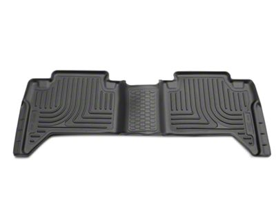 Husky WeatherBeater 2nd Seat Floor Liner - Black (16-19 Tacoma Double Cab)