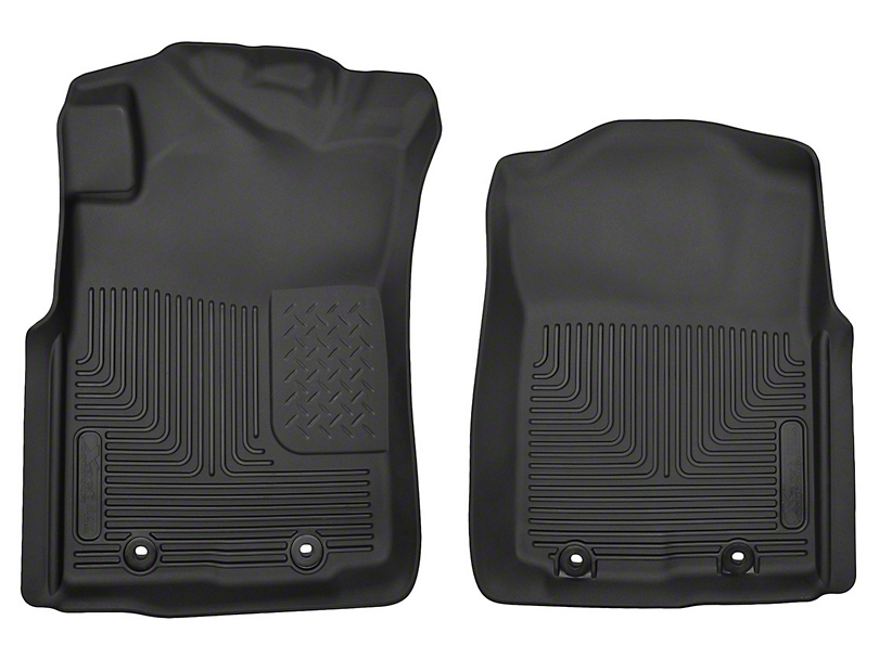 Husky X-Act Contour Front Floor Liners - Black (12-15 Tacoma)
