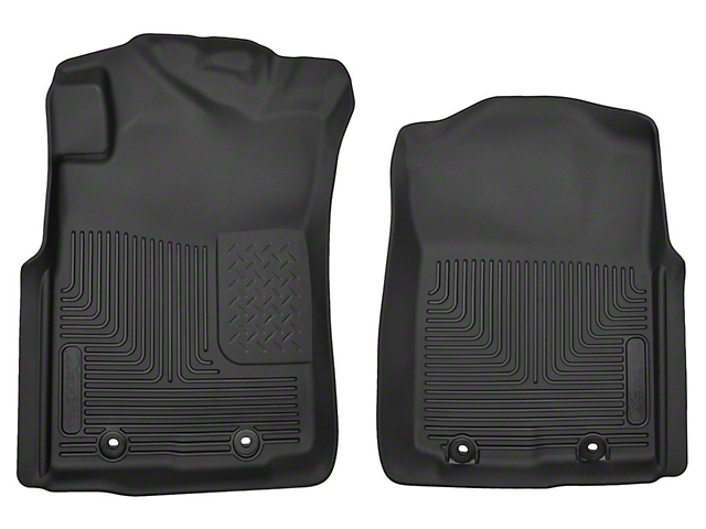 Husky X-Act Contour Front Floor Liners; Black (12-15 Tacoma)