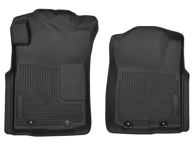 Husky X-Act Contour Front Floor Liners; Black (05-11 Tacoma)