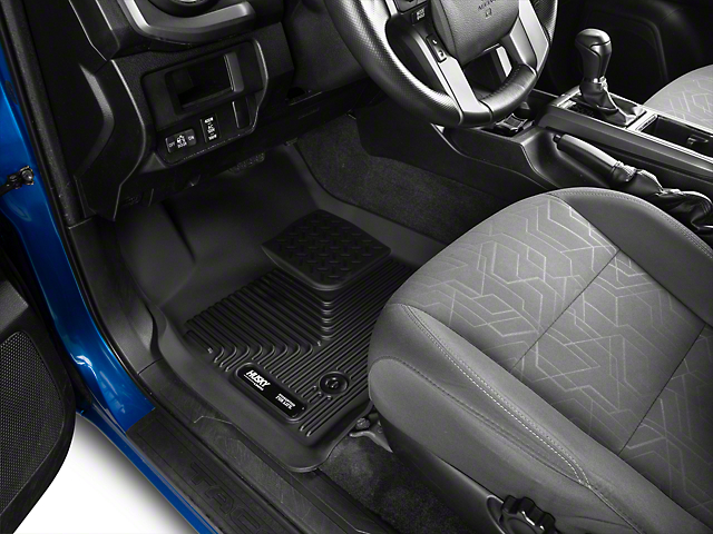 Husky X-Act Contour Front Floor Liners; Black (16-17 Tacoma w/ Automatic Transmission)