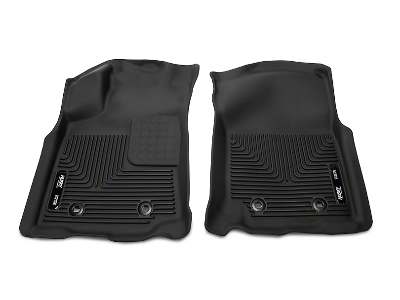 Husky X-Act Contour Front Floor Liners - Black (18-19 Tacoma w/ Automatic Transmission)