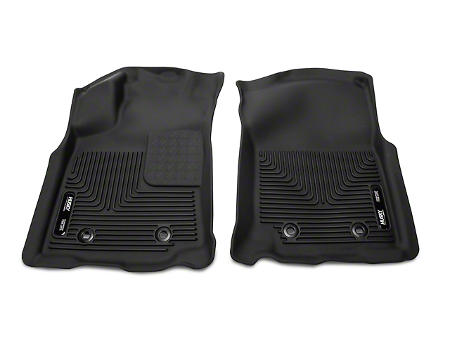 Husky X-Act Contour Front Floor Liners; Black (18-21 Tacoma w/ Automatic Transmission)