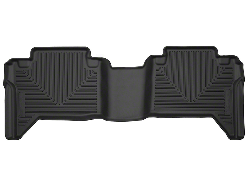 Husky X-Act Contour Second Seat Floor Liner; Black (05-20 Tacoma Double Cab w/ Automatic Transmission)
