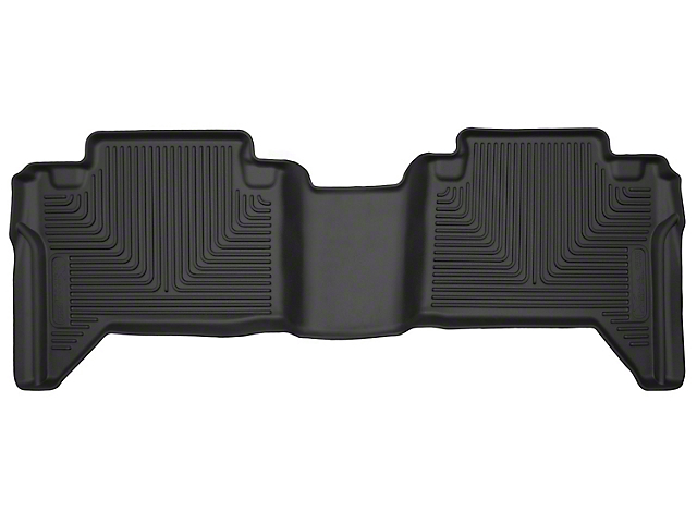 Husky X-Act Contour 2nd Seat Floor Liner - Black (05-19 Tacoma Double Cab w/ Automatic Transmission)