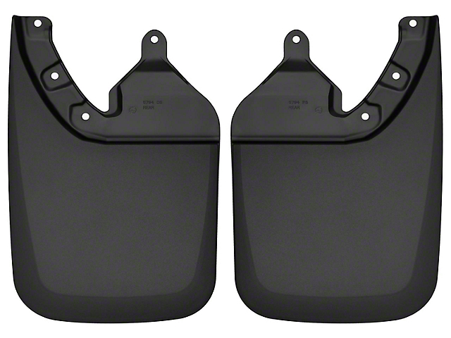 Husky Custom Molded Mud Guards; Rear (16-21 Tacoma w/ OE Fender Flares)