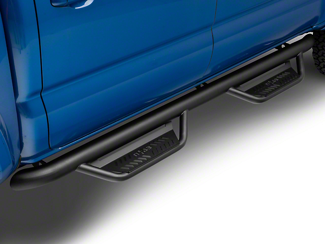 N-Fab Cab Length Podium Nerf Side Step Bars; Textured Black (16-20 Tacoma Double Cab)