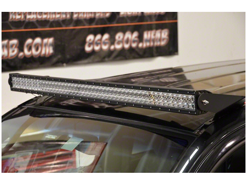 N-Fab 49 Series LED Light Bar Roof Top Light Bar Mount; Textured Black (05-15 Tacoma)
