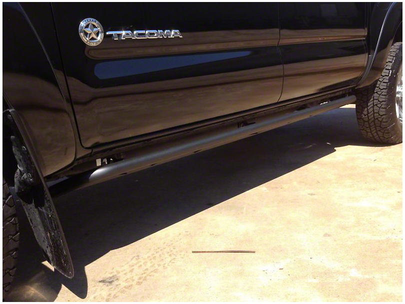 N-Fab Cab Length RKR Side Rails; Textured Black (05-15 Tacoma Double Cab)