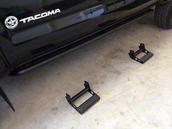 N-Fab Cab Length RKR Side Rails with Detachable Steps; Textured Black (05-15 Tacoma Double Cab)