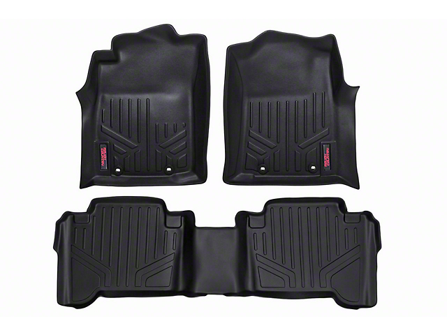 Rough Country Heavy Duty Front & Rear Floor Mats - Black (12-15 Tacoma Double Cab)