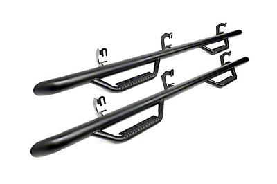 Rough Country Wheel to Wheel Nerf Side Step Bars - Black (05-19 Tacoma Double Cab)