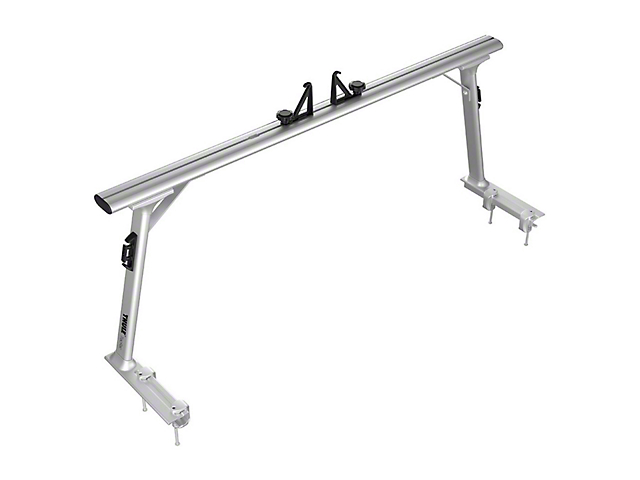 Thule TracRac Pro2 Bed Rack; Silver (05-15 Tacoma)