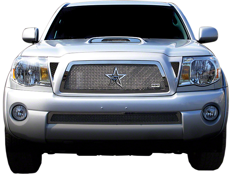 RBP RL Series Smooth Upper Replacement Grille; Chrome (05-11 Tacoma)