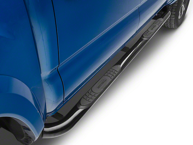 Smittybilt 3-Inch Sure Side Step Bars; Gloss Black (05-20 Tacoma Double Cab)