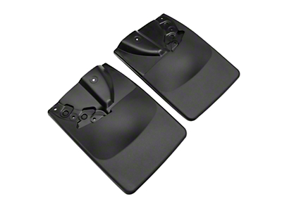 Weathertech No Drill Rear MudFlaps - Black (16-19 Tacoma)