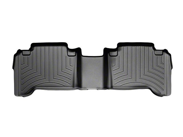 Weathertech DigitalFit Rear Floor Liner; Black (05-15 Tacoma Double Cab)