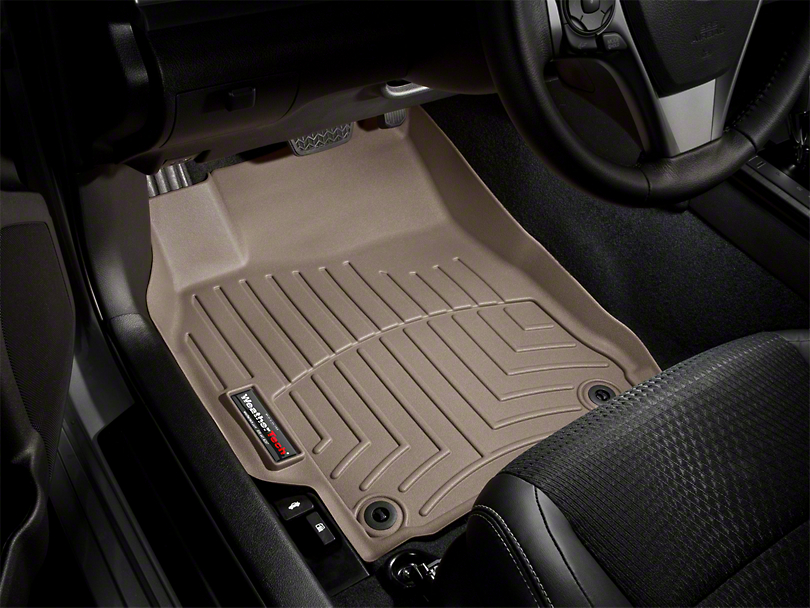 Weathertech DigitalFit Front Floor Liners - Tan (12-15 Tacoma Double Cab)