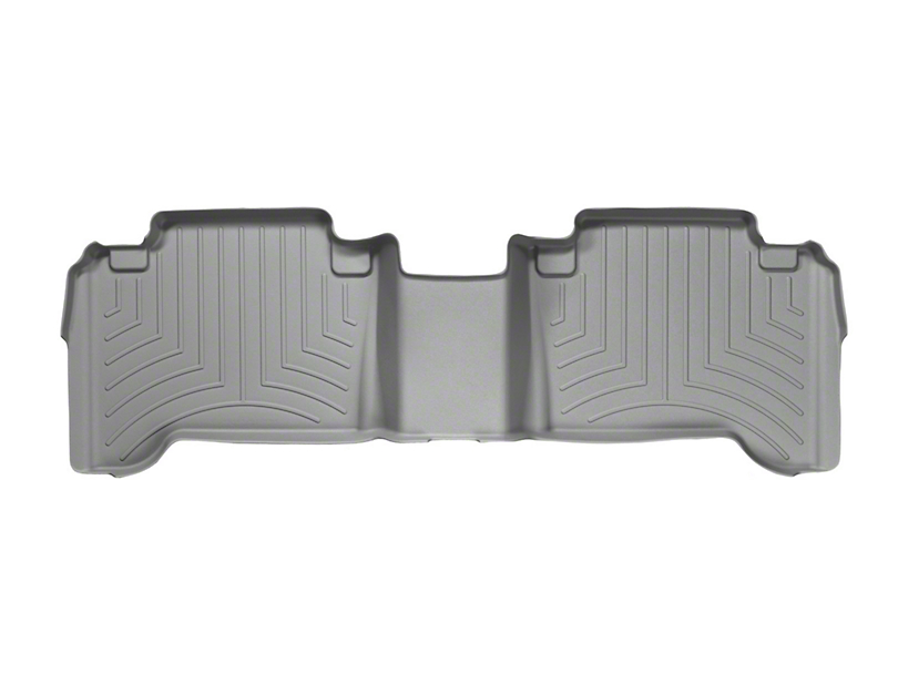 Weathertech DigitalFit Rear Floor Liners - Gray (05-15 Tacoma Double Cab)
