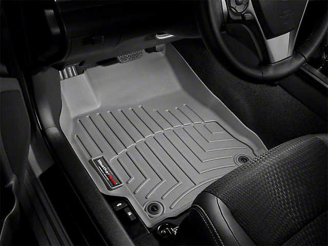 Weathertech DigitalFit Front Floor Liners; Gray (12-15 Tacoma Double Cab)