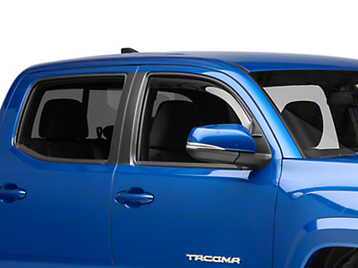 Weathertech Front Side Window Deflectors - Light Smoke (16-19 Tacoma)