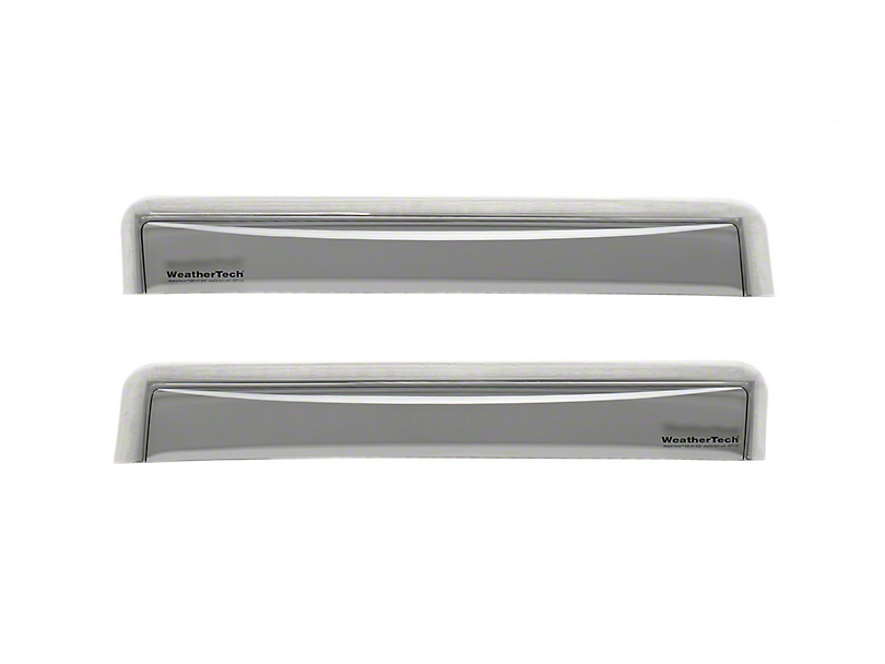 Weathertech Rear Side Window Deflectors - Light Smoke (05-15 Tacoma Double Cab)
