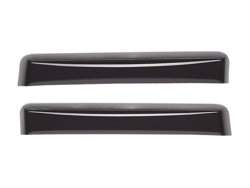 Weathertech Rear Side Window Deflectors - Dark Smoke (05-15 Tacoma Access Cab)