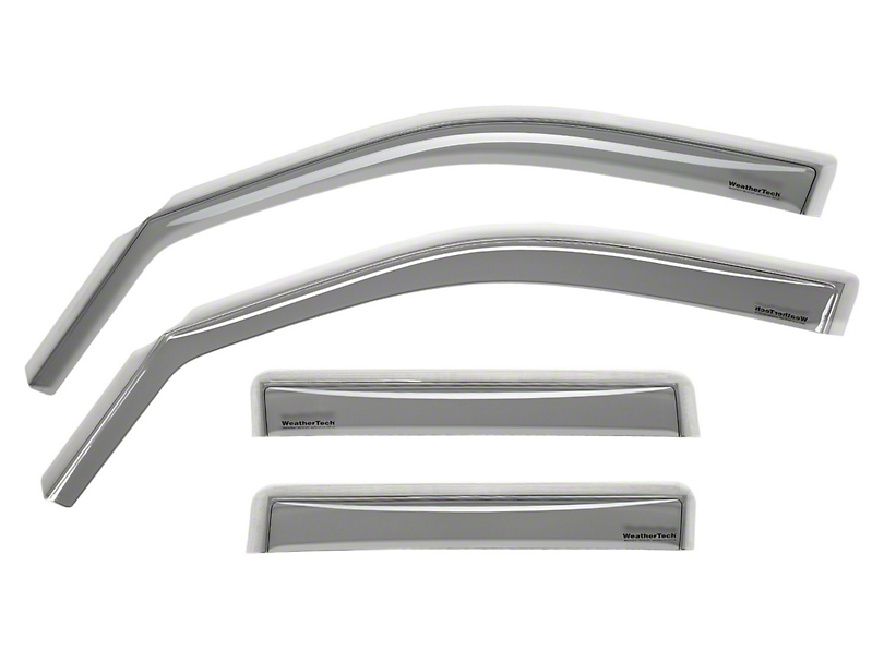 Weathertech Front & Rear Side Window Deflectors - Light Smoke (05-15 Tacoma Double Cab)