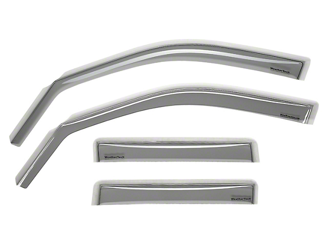 Weathertech Window Deflectors; Front and Rear; Light Smoke (05-15 Tacoma Double Cab)