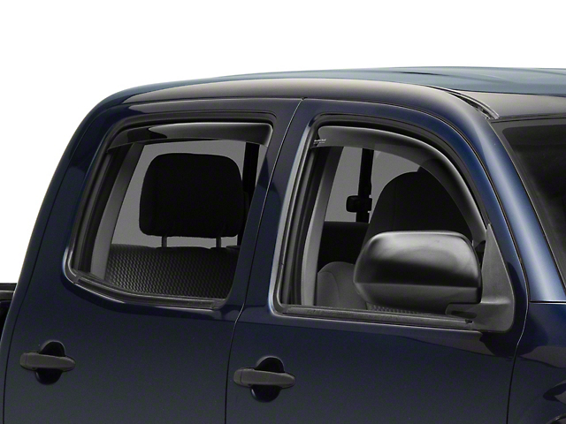 Weathertech Window Deflectors; Front and Rear; Dark Smoke (05-15 Tacoma Double Cab)