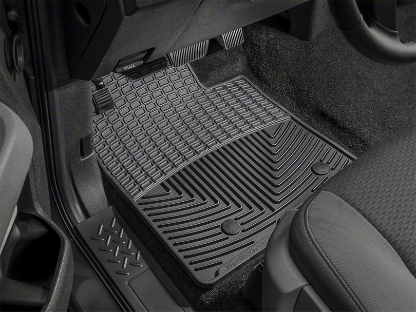 Weathertech All-Weather Front Rubber Floor Mats; Black (05-11 Tacoma)
