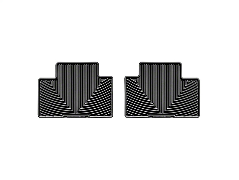 Weathertech All-Weather Rear Rubber Floor Mats; Black (05-15 Tacoma Access Cab, Double Cab)