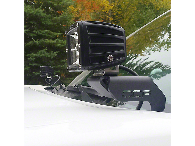 Off Camber Fabrications by MBRP Hood Mounted Light Bracket Kit (05-15 Tacoma)