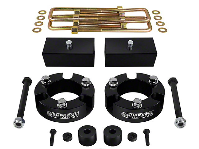 Supreme Suspensions 2.50-Inch Front / 1-Inch Rear Pro Billet Lift Kit (05-20 4WD Tacoma)