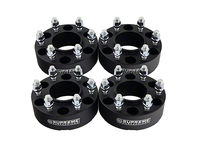 Supreme Suspensions 1.50-Inch Pro Billet Hub and Wheel Centric Wheel Spacers; Set of Four (05-20 Tacoma PreRunner, 4WD Tacoma)