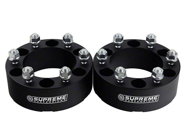 Supreme Suspensions 2 Inch Pro Billet Lug Centric Wheel Spacers; Set of Two (05-20 Tacoma PreRunner, 4WD Tacoma)