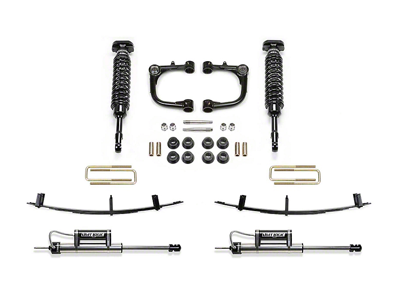 Fabtech 3 in. Uniball Upper Control Arm Lift System w/ Dirt Logic Coilovers, Reservoir Shocks & Leaf Springs (15-19 Tacoma)