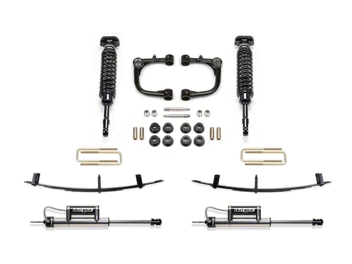 Fabtech 3 in  Uniball Upper Control Arm Lift System w/ Dirt Logic  Coilovers, Reservoir Shocks & Leaf Springs (15-19 Tacoma)