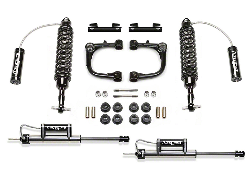 Fabtech 3 in. Uniball Upper Control Arm Lift System w/ Dirt Logic Reservoir Coilovers & Reservoir Shocks (15-19 Tacoma)