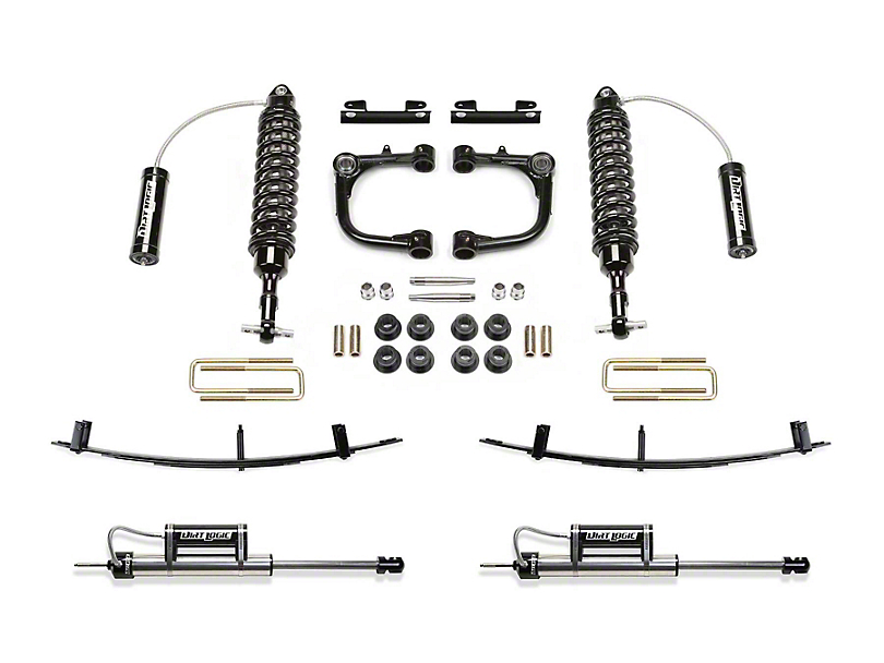 Fabtech 3 in. Uniball Upper Control Arm Lift System w/ Dirt Logic Reservoir Coilovers, Reservoir Shocks & Leaf Springs (15-19 Tacoma)