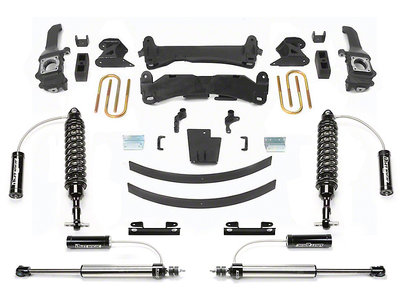 Fabtech 6-Inch Performance Suspension Lift Kit with Dirt Logic Reservoir Coil-Overs and Reservoir Shocks (16-20 Tacoma)